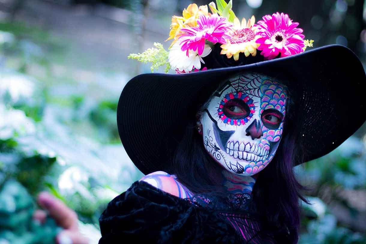 Los Dias de los Muertos in Mexico Tag der Toten